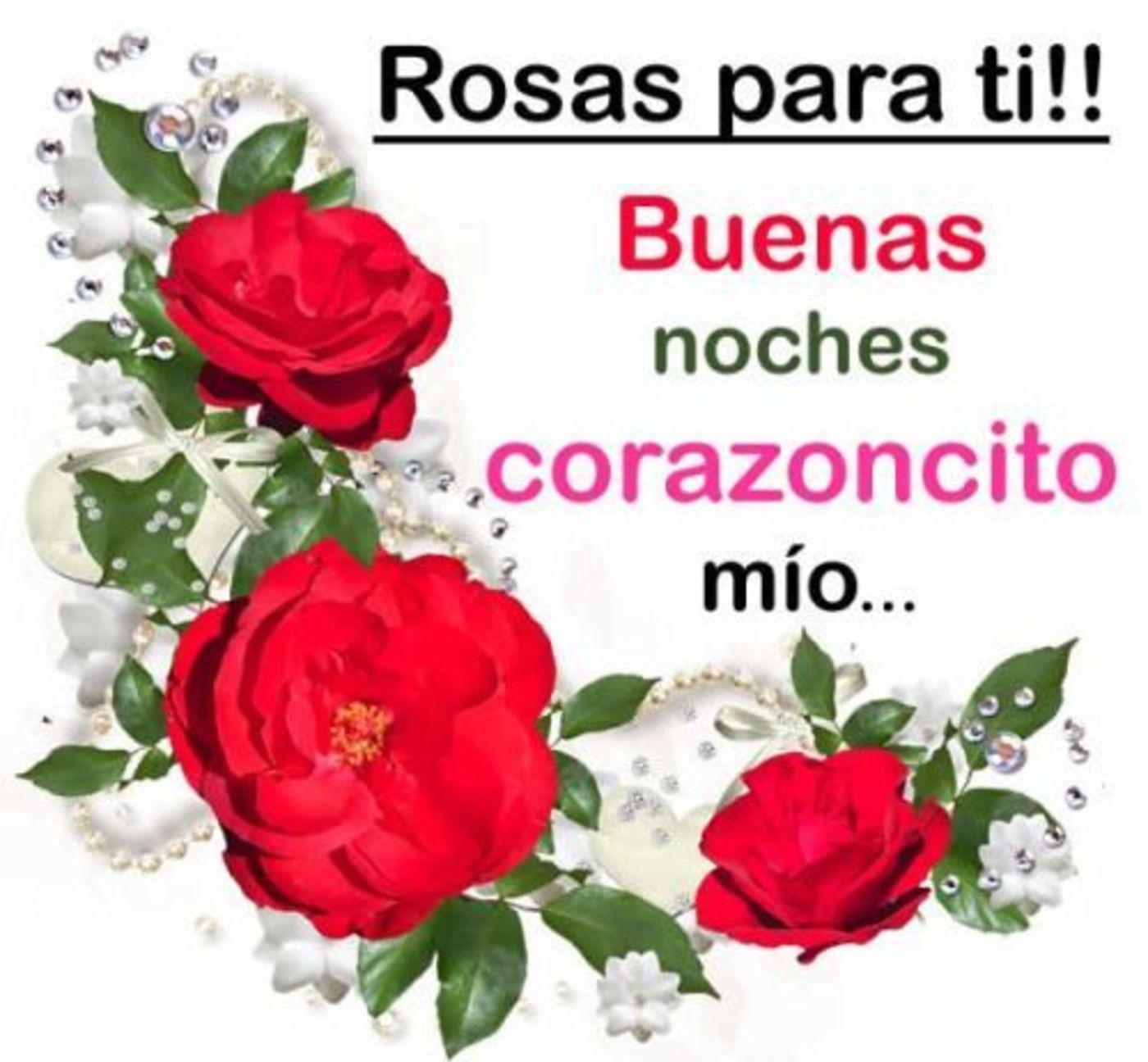 Rosas para ti!! Buenas noches corazoncito mío