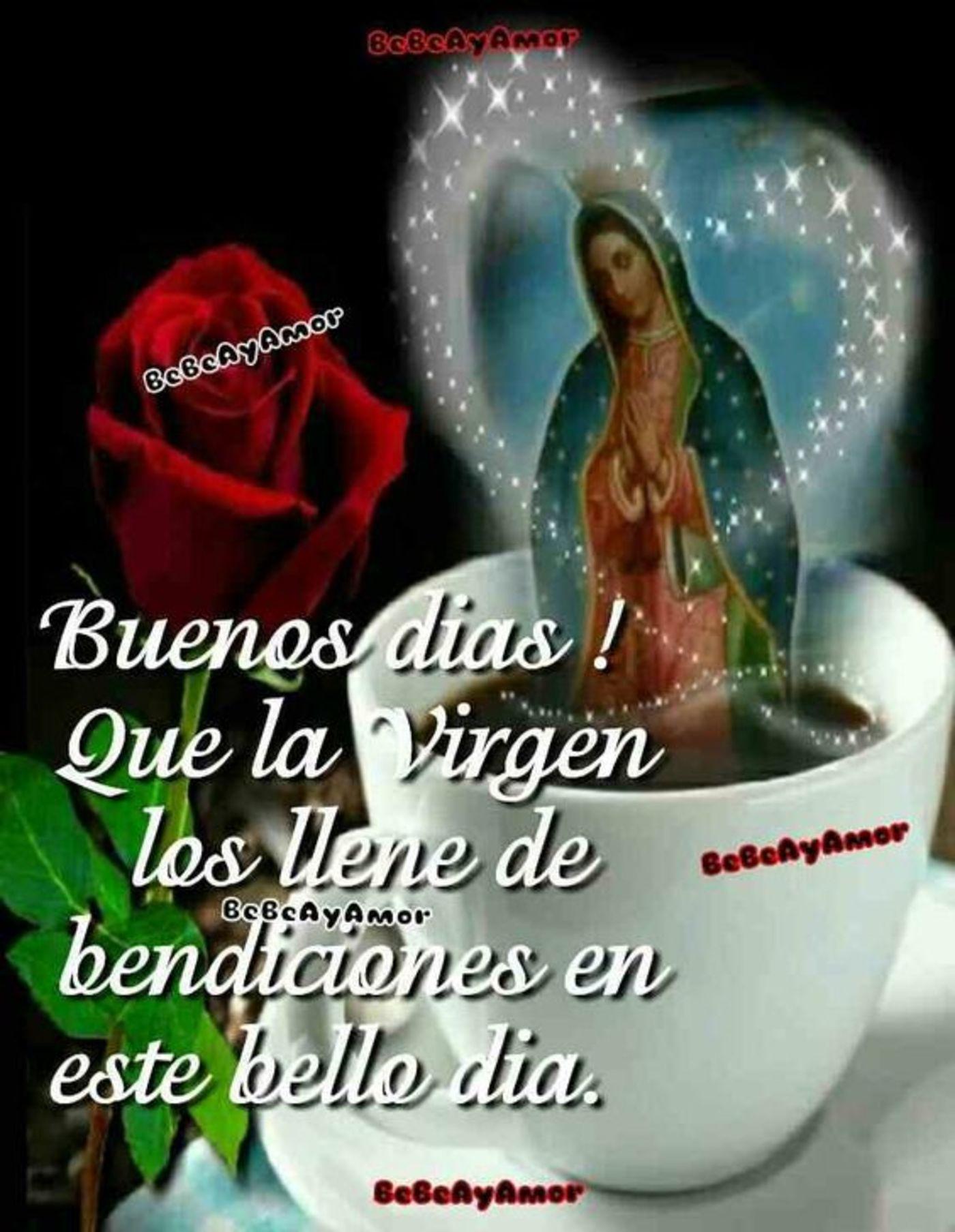 Que la Virgen los llene de bendiciones en este bello día