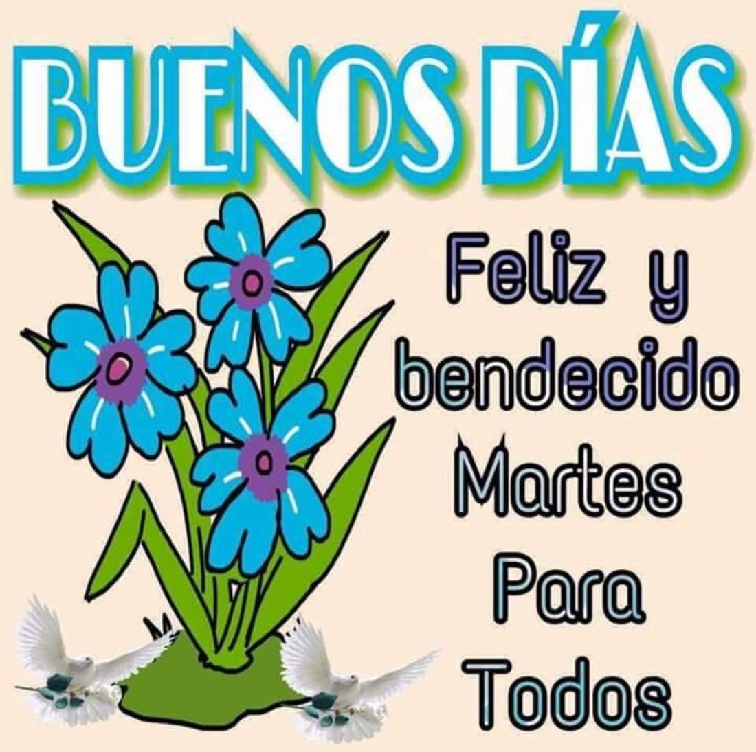 Buenos días feliz y bendecido martes para todos