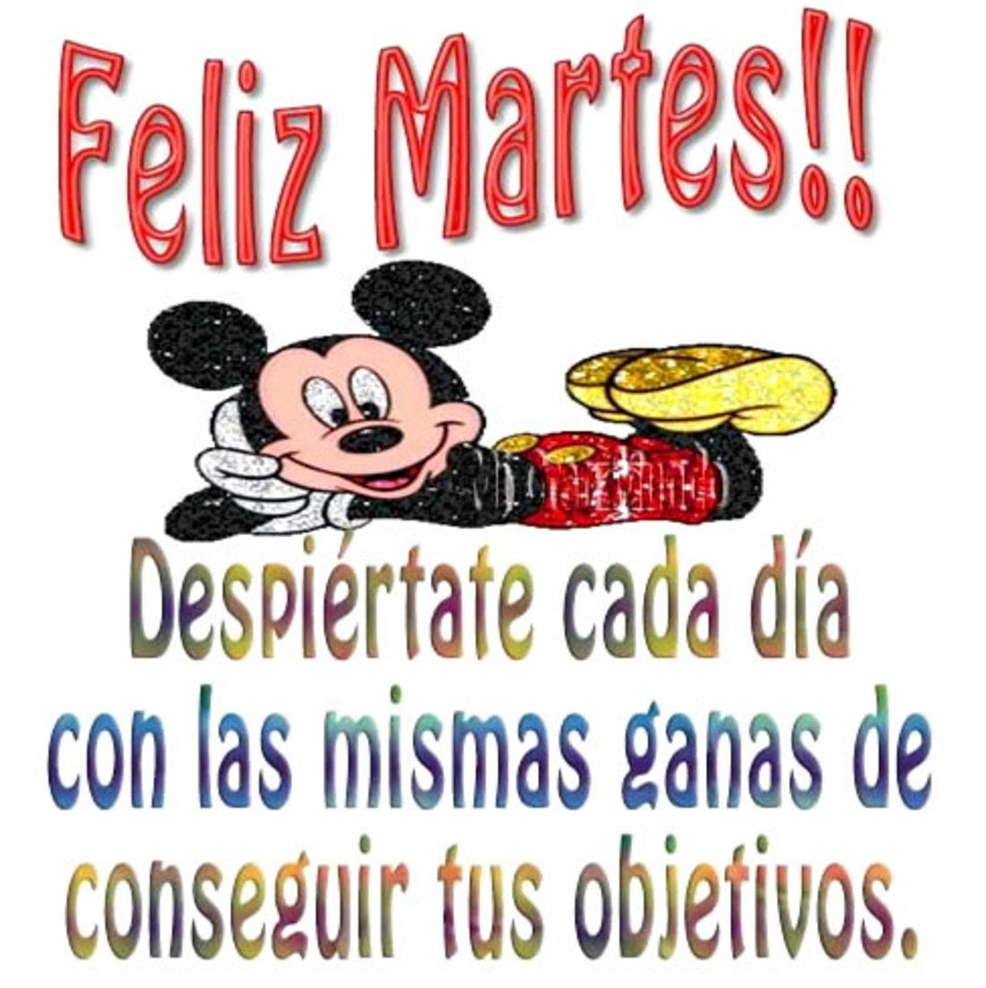 Feliz Martes!! Despiertate cada dia con la misma ganas de conseguir tus objectivos