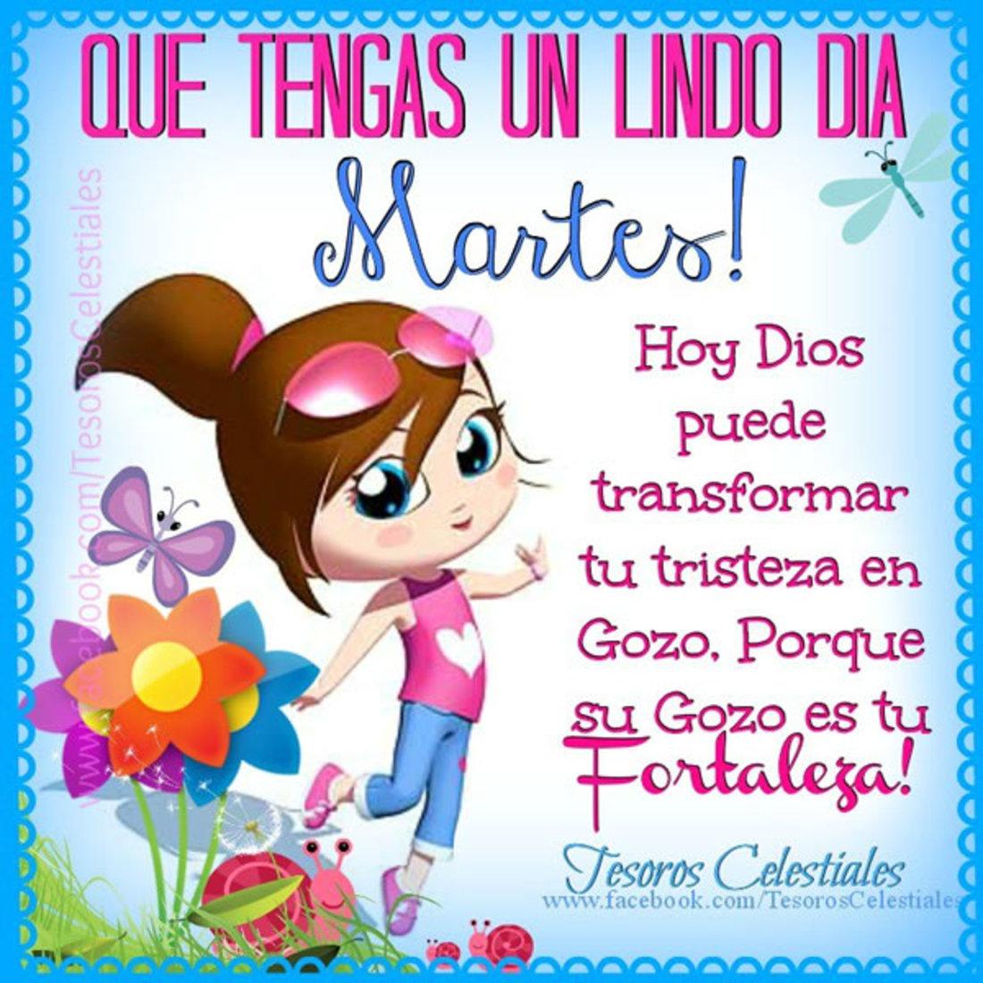 Que tengas un lindo día martes! Hoy Dios puede transformar tu tristeza en gozo. Porque su gozo es tu fortaleza!