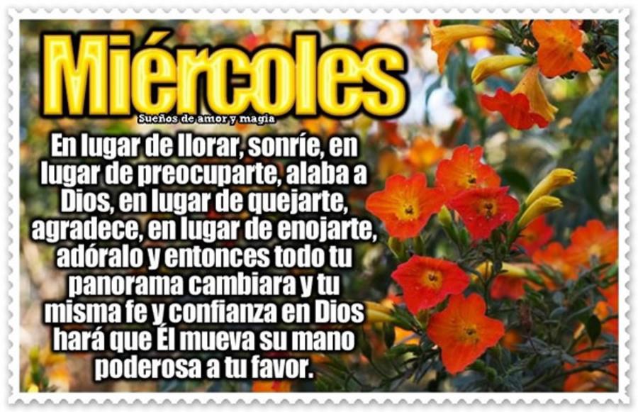 Feliz miércoles con Dios