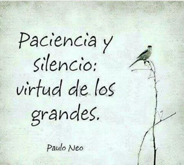 Paciencia y silencio: virtud de los grandes
