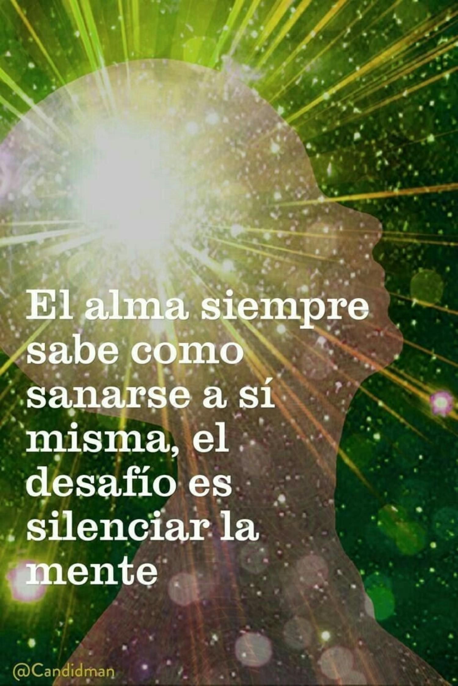 El alma siempre sabe como sanarse a si misma, el desafio es silenciar la mente