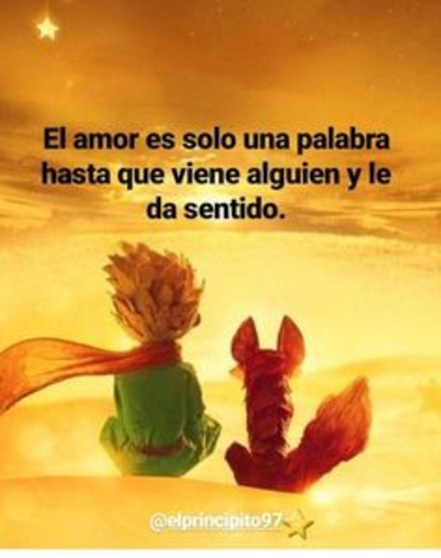 El amor es solo una palabra hasta que viene alguien y le da sentido