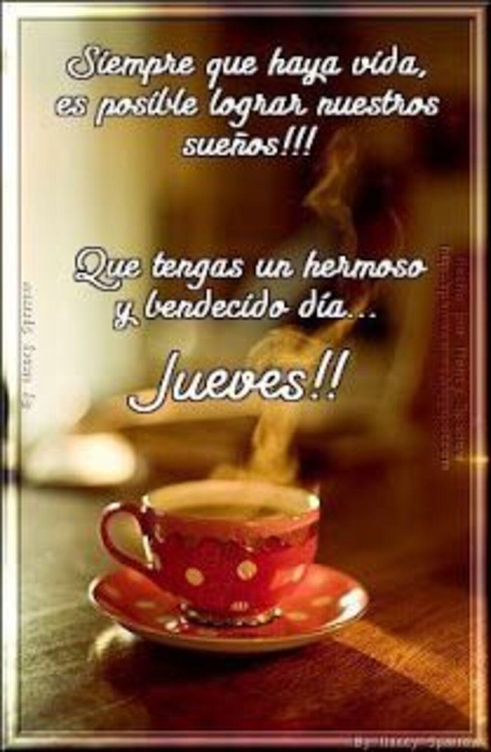 Siempre que haya vida, es posible lograr nuestros sueños!!! Que tengas un hermoso y bendecido dia...Jueves!!