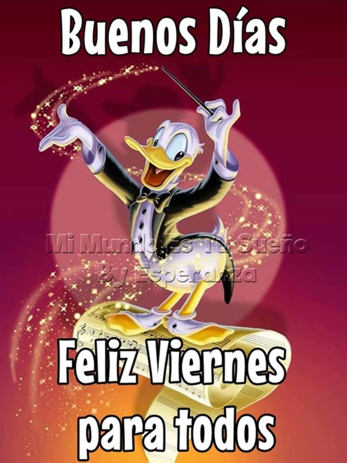 Buenos Días Feliz Viernes para todos