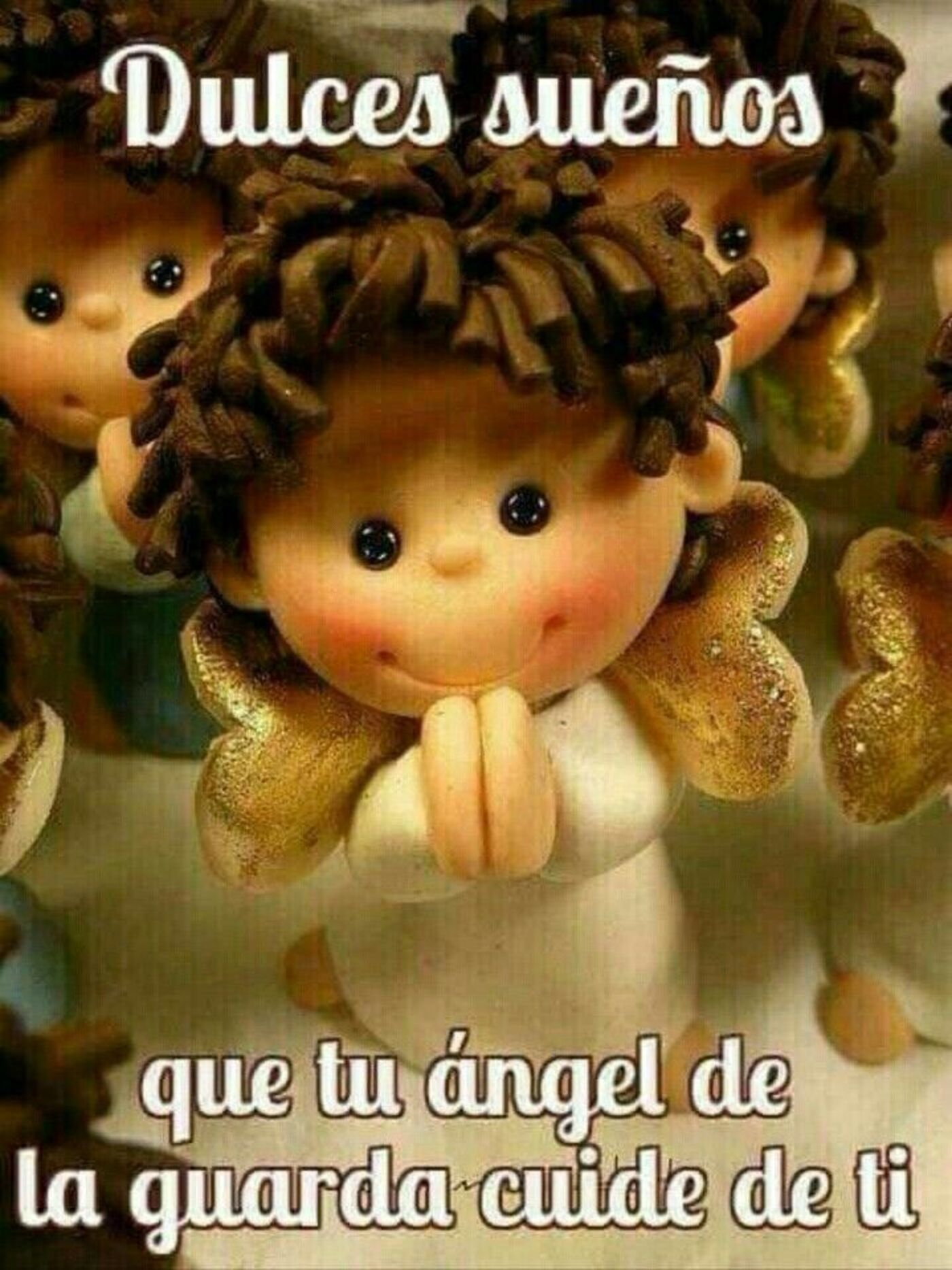 Dulces sueños que tu angel de la guarda cuide de ti