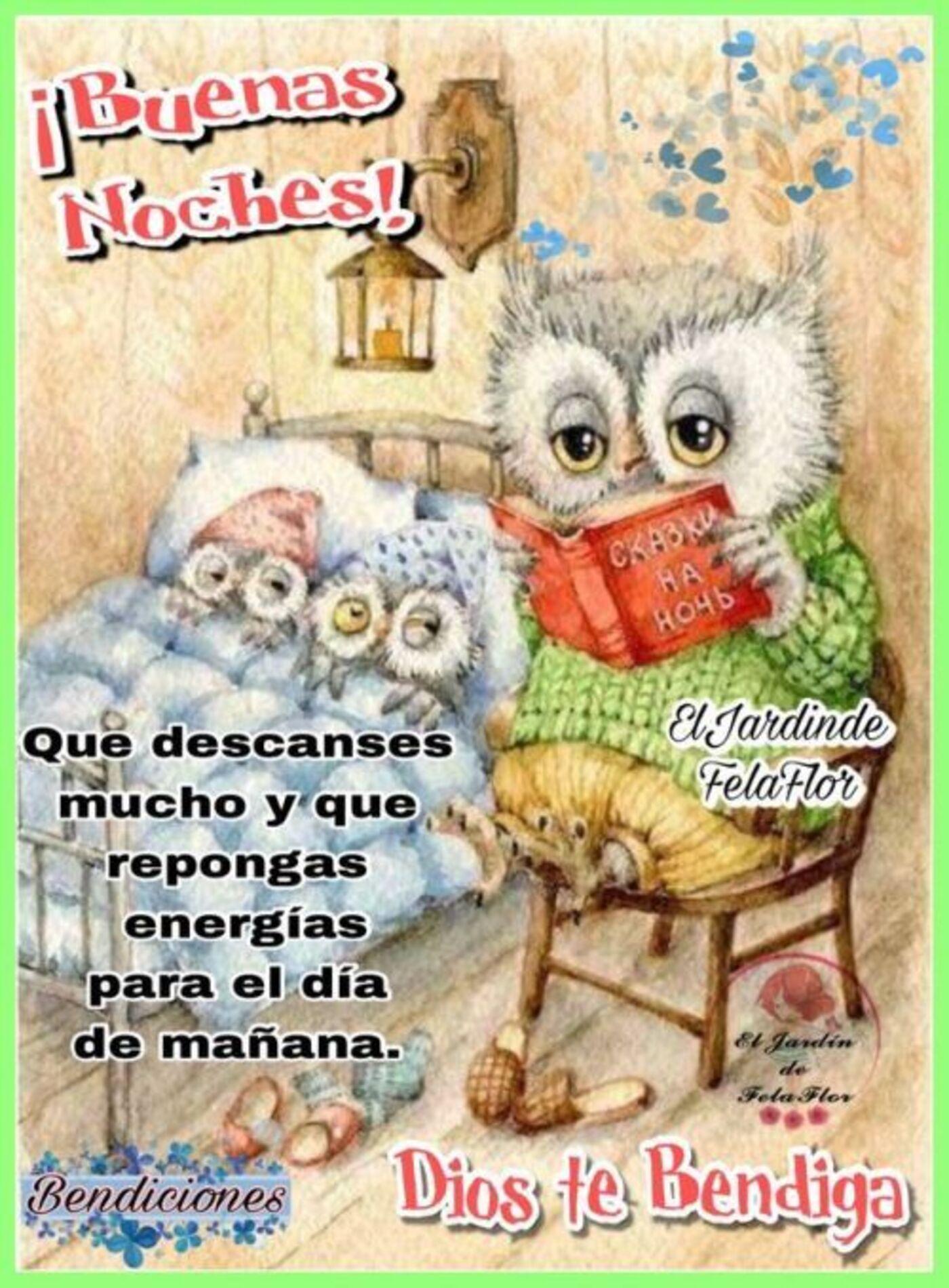 Buenas Noches! Que descanses mucho y que repongas energias para el día de mañana. Dios te bendiga