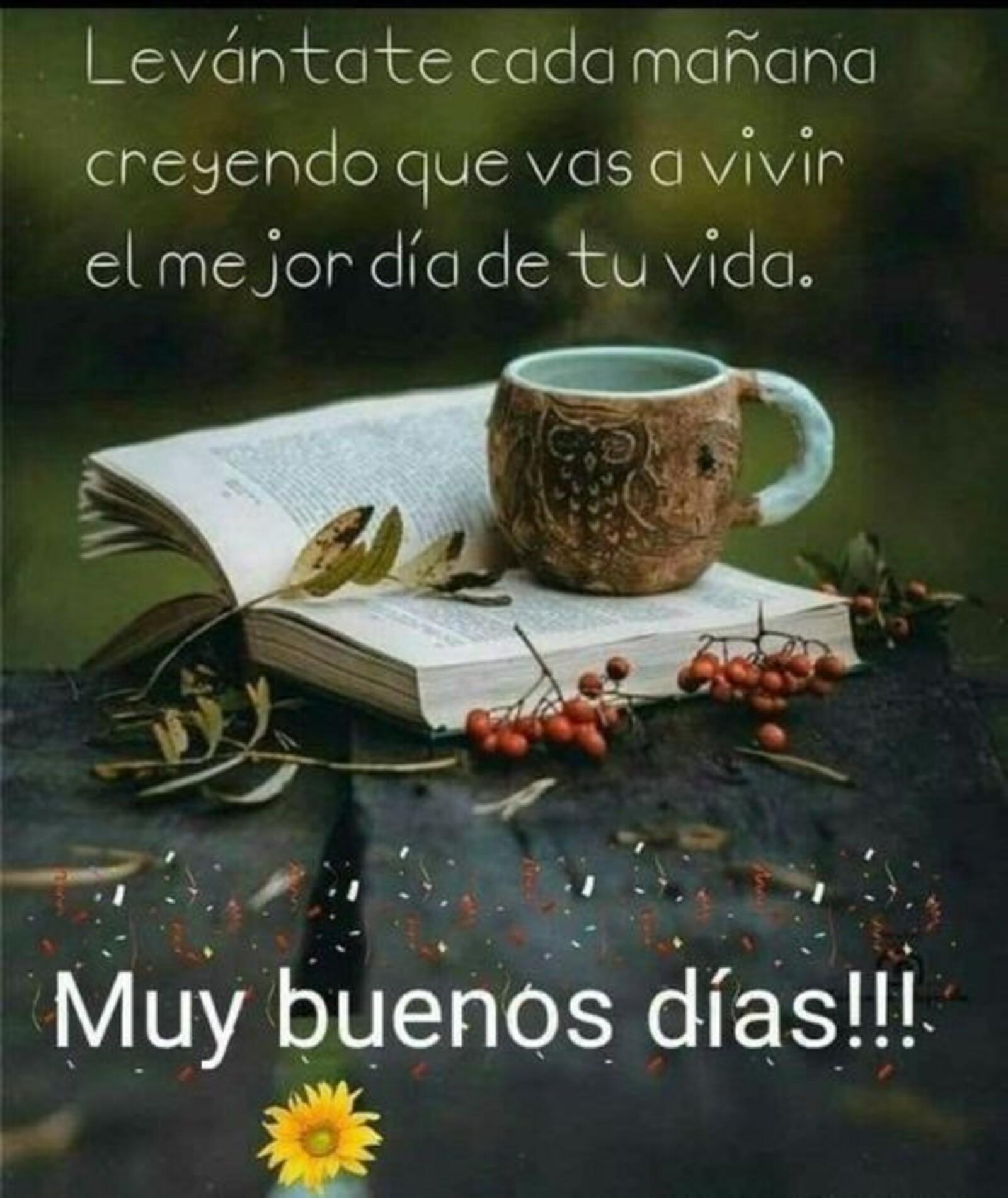 Levantate cada mañana creyendo que vas a vivir el mejor dia de tu vida. Muy buenos dias!!