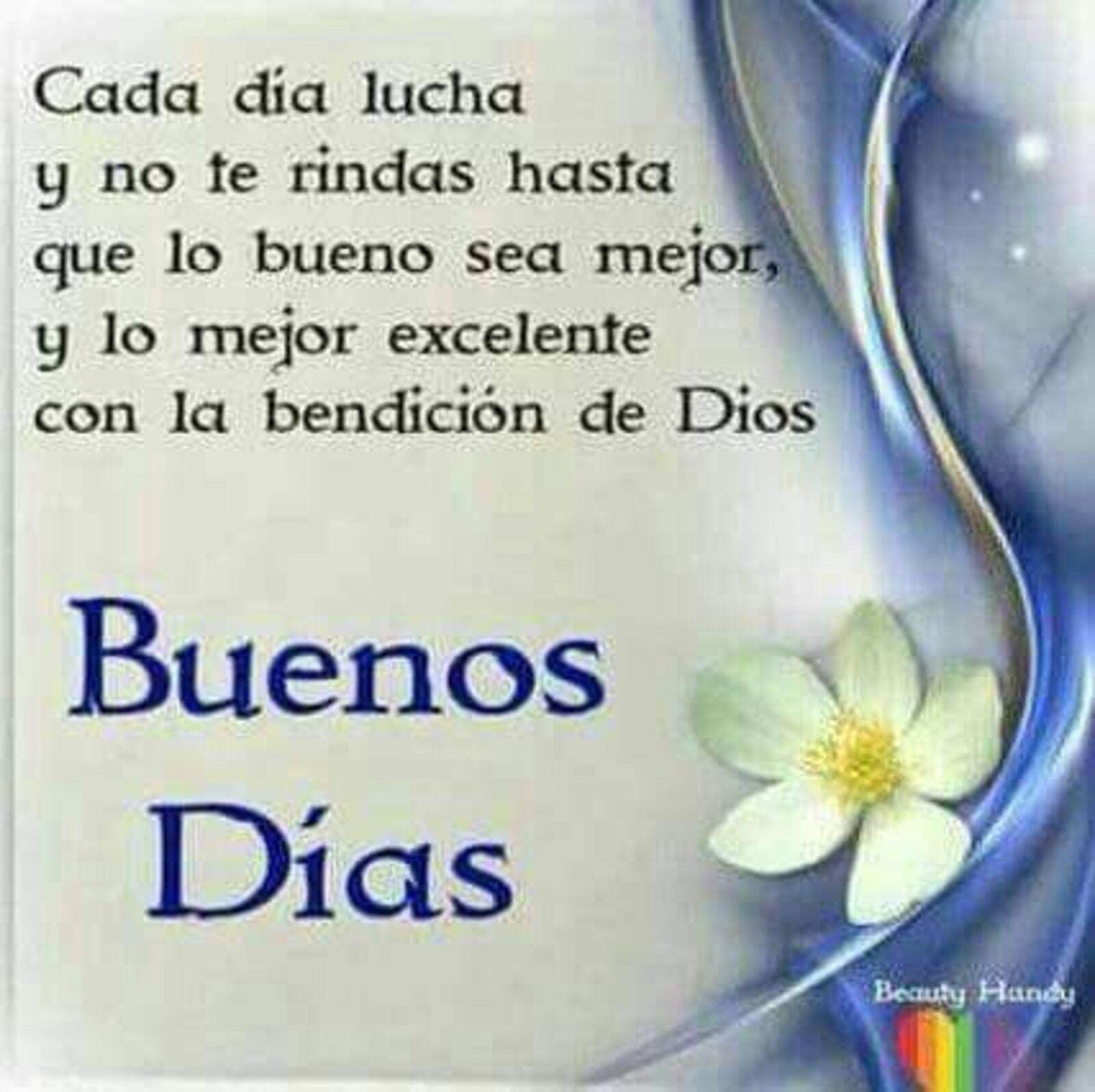 Cada día lucha y no te rindas hasta que lo bueno sea mejor, y lo mejor excelente con la bendicion de Dios. Buenos días