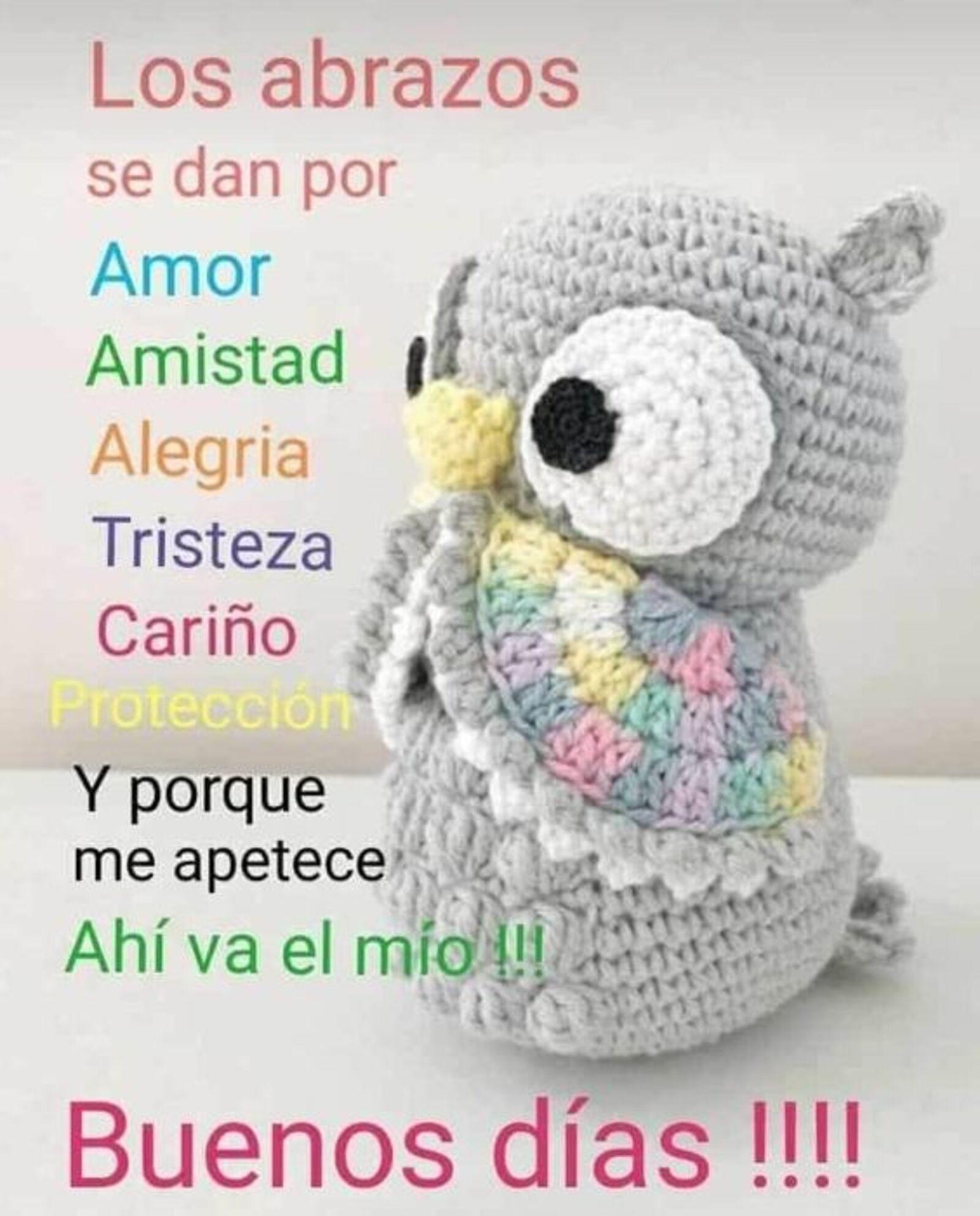 Los abrazos se dan por amor, amistad, alegría, tristeza, cariño, protección y porque me apetece ahí va el mío!!! Buenos días!!!