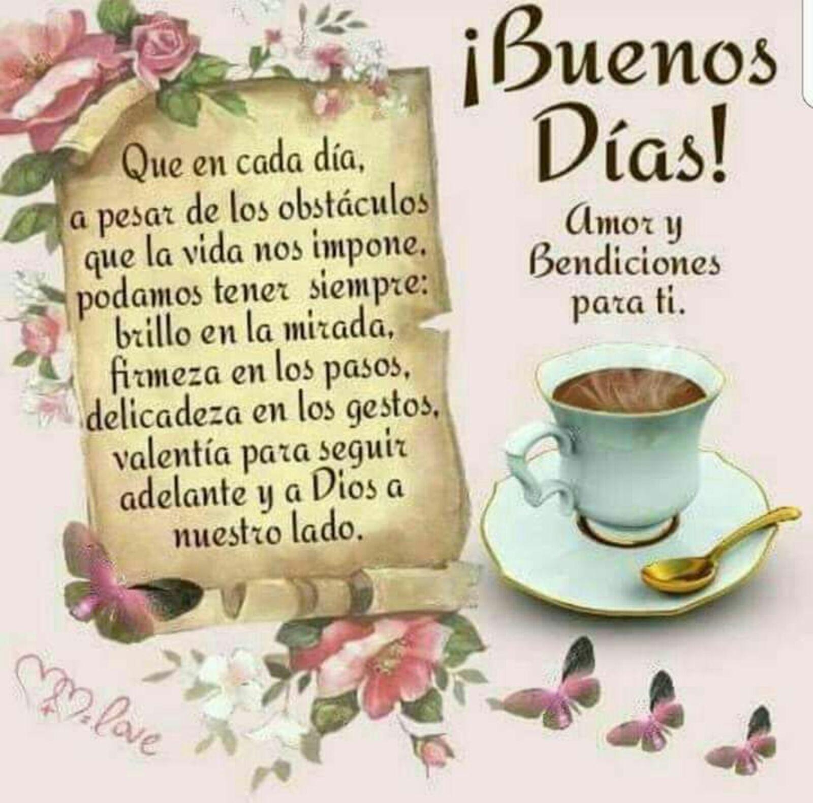 Buenos días amor y bendiciones para ti