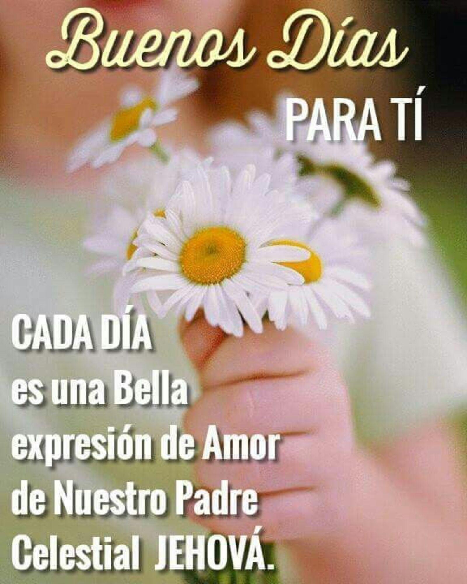 Buenos días para ti...cada día es una bella expresión de amor de nuestro Padre Celestial Jehova