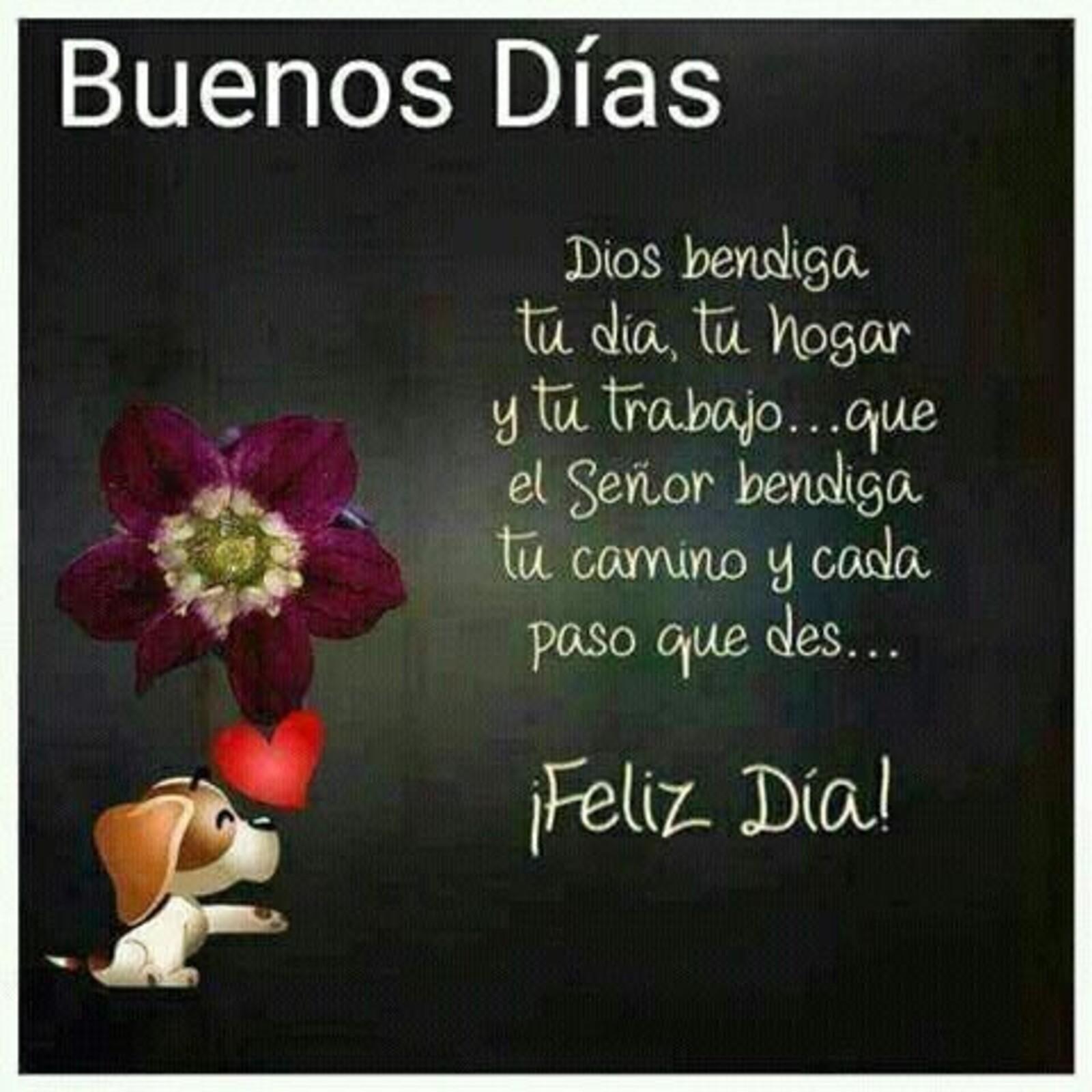 Buenos días Dios te bendiga tu día, tu hogar y tu trabajo...que el Señor bendiga tu camino y cada paso que des...feliz día