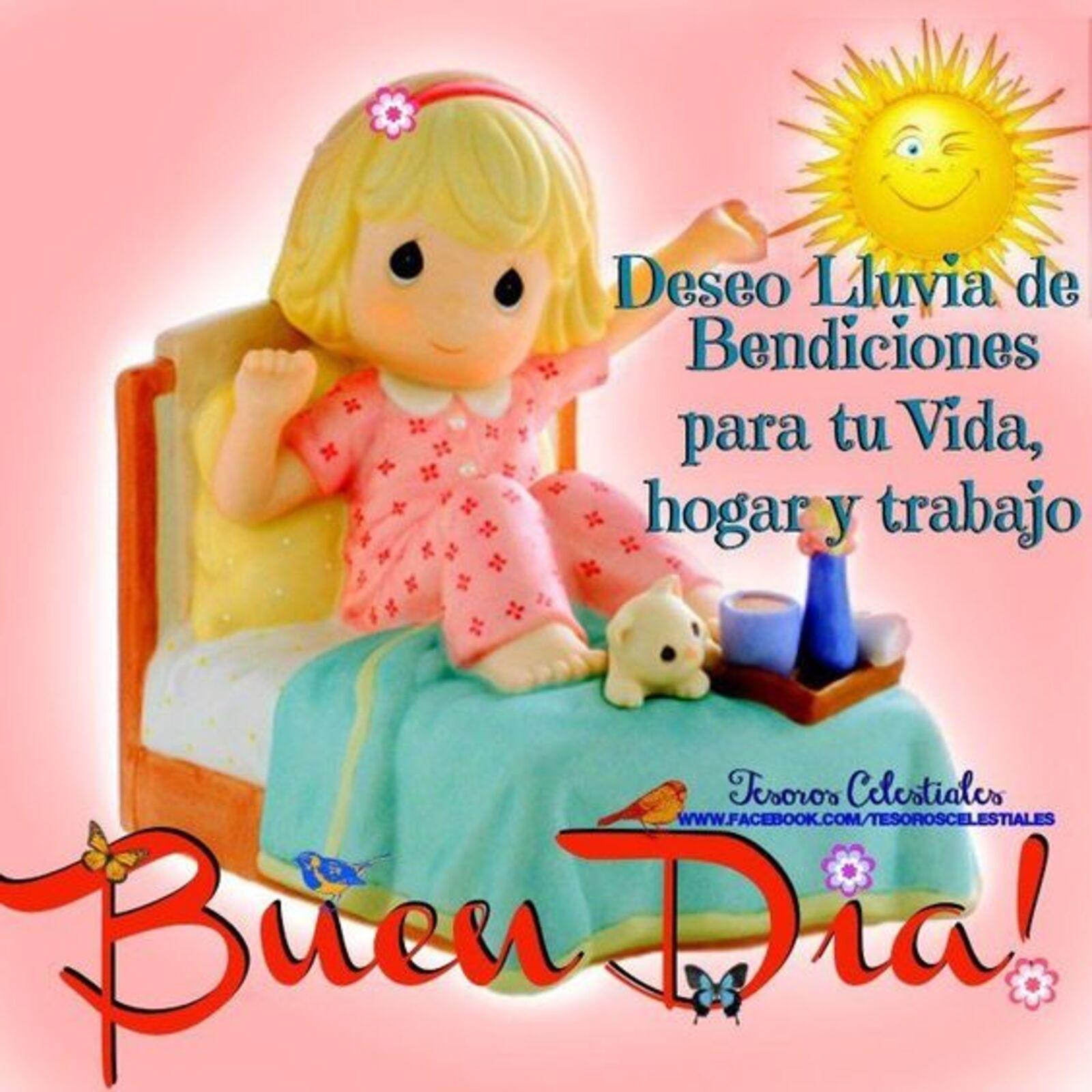 Deseo lluvia de bendiciones para tu vida, hogar y trabajo...Buen dia!!