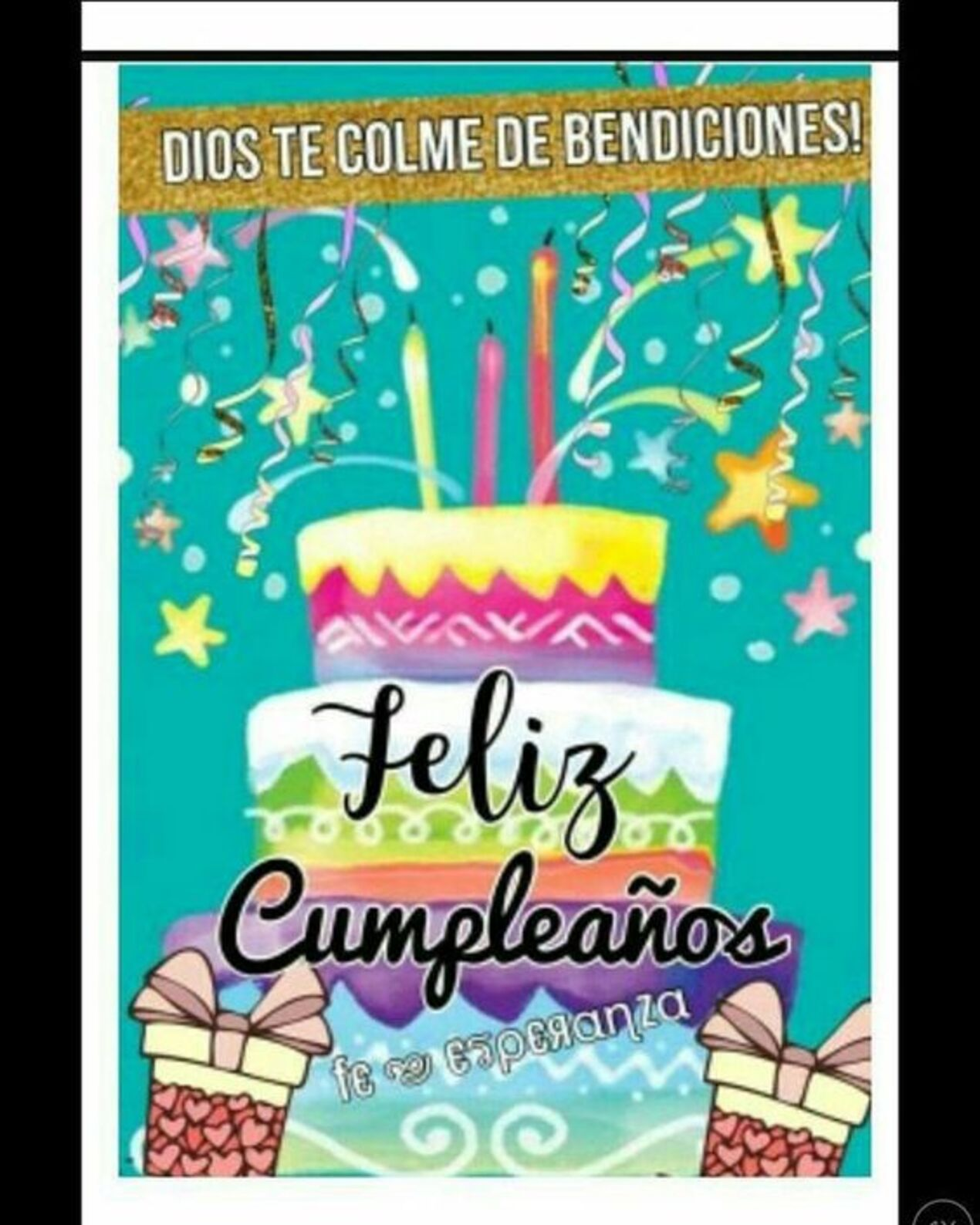 Dios te colme de bendiciones! Feliz cumpleaños