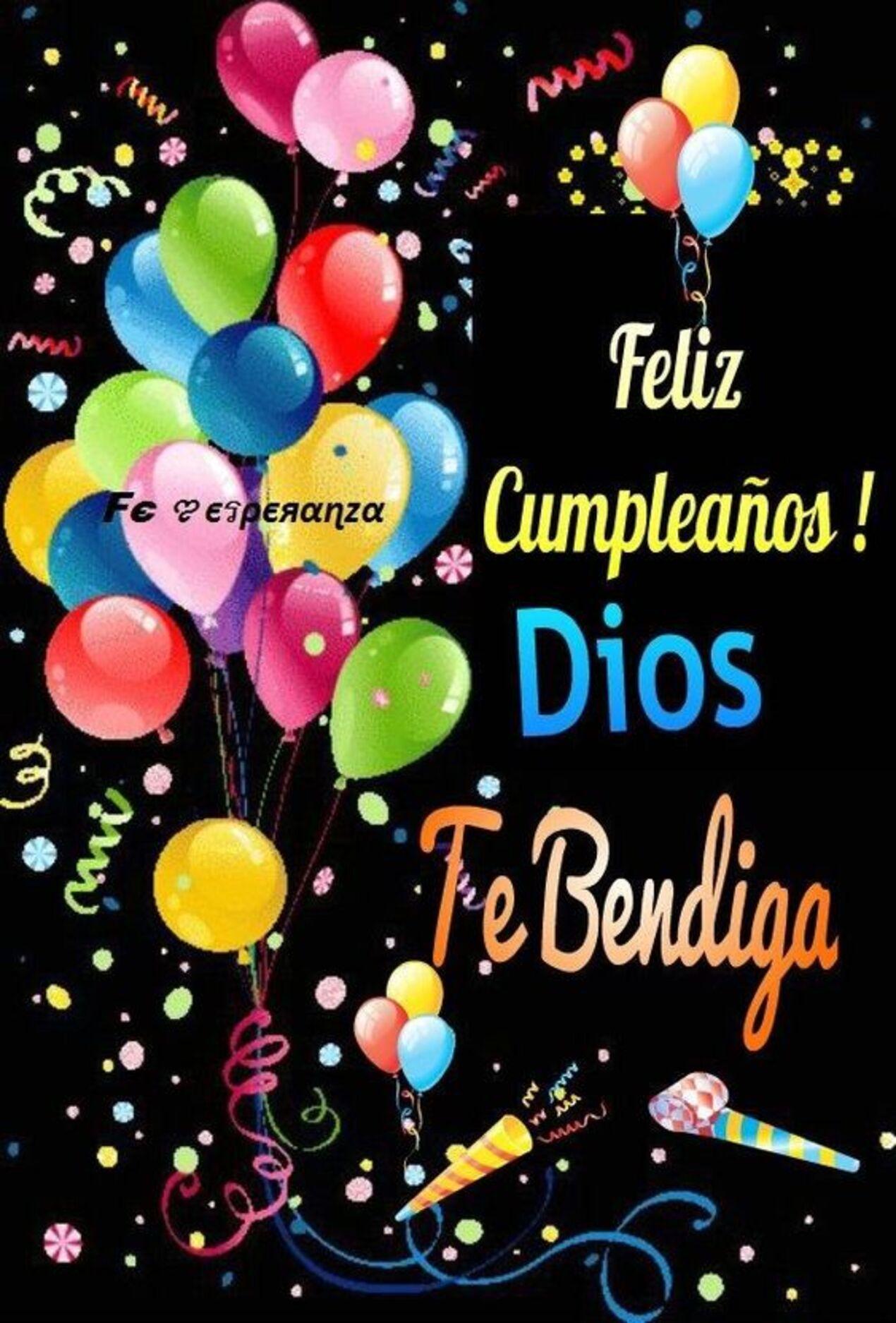 Feliz cumpleaños! Dios te bendiga