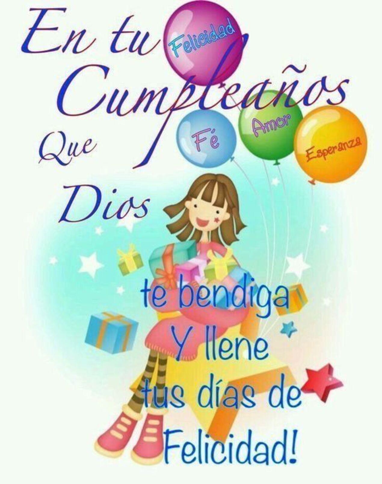En tu cumpleaños que Dios te bendiga y llene tus días de felicidad!!