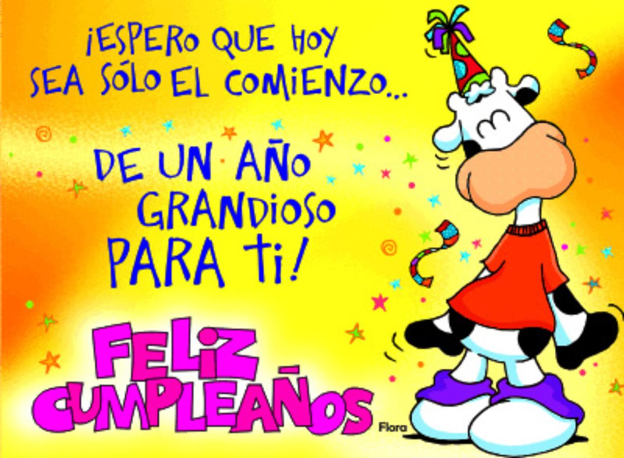 Espero que hoy sea sólo el comienzo de un año grandioso para ti! Feliz Cumpleaños