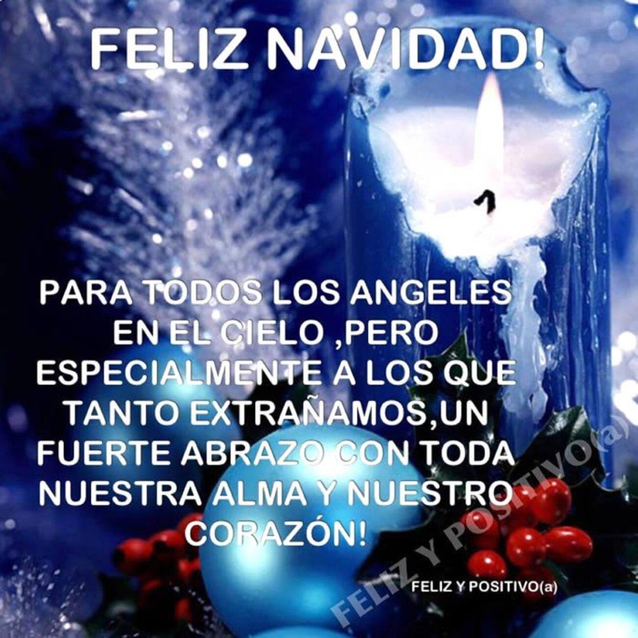 Feliz Navidad! Para todos los angeles en el cielo, pero especialmente a los que tanto extrañamos, un fuerte abrazo con toda nuestra alma y nuestro corazón!