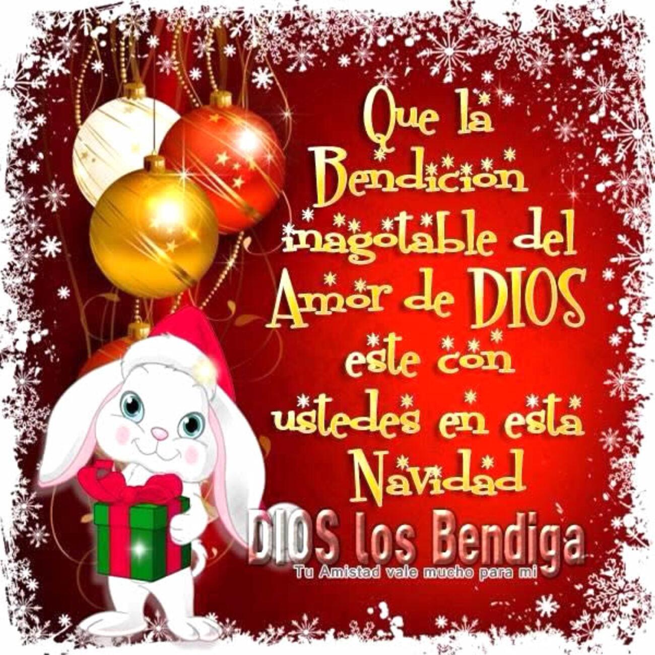 Que la bendición inagotable del amor de Dios este con ustedes en esta Navidad. Dios los bendiga