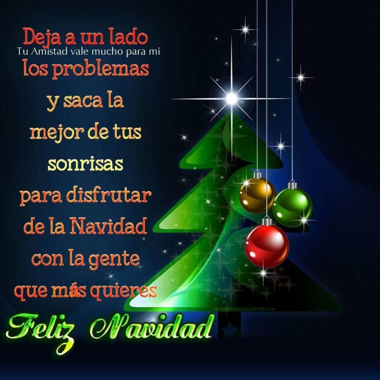 Deja a un lado los problemas y saca la mejor de tu sonrisas para disfrutar de la Navidad con la gente que más quieres feliz navidad