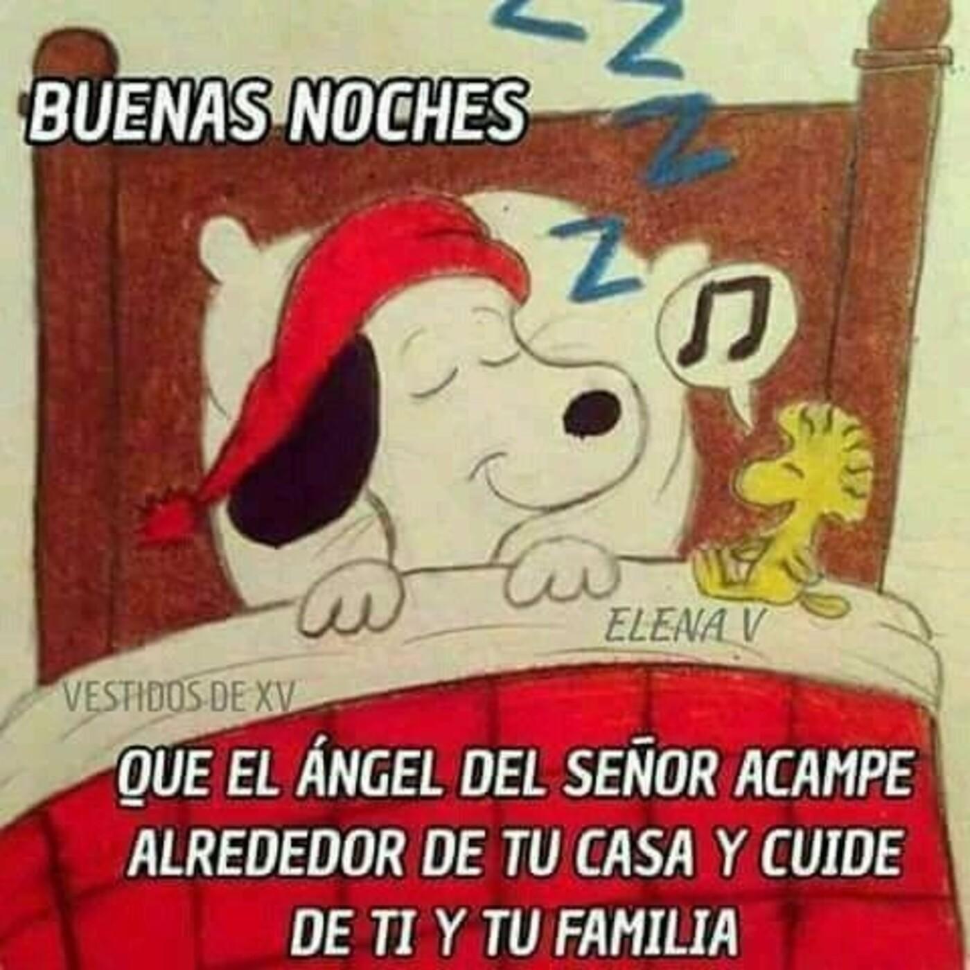 Buenas noches que el ángel del Señor acampe alrededor de tu casa y cuide de ti y tu familia