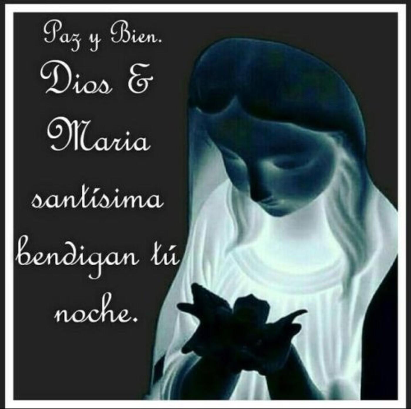 Paz y Bien. Dios e Maria Santisima bendigan tu noche