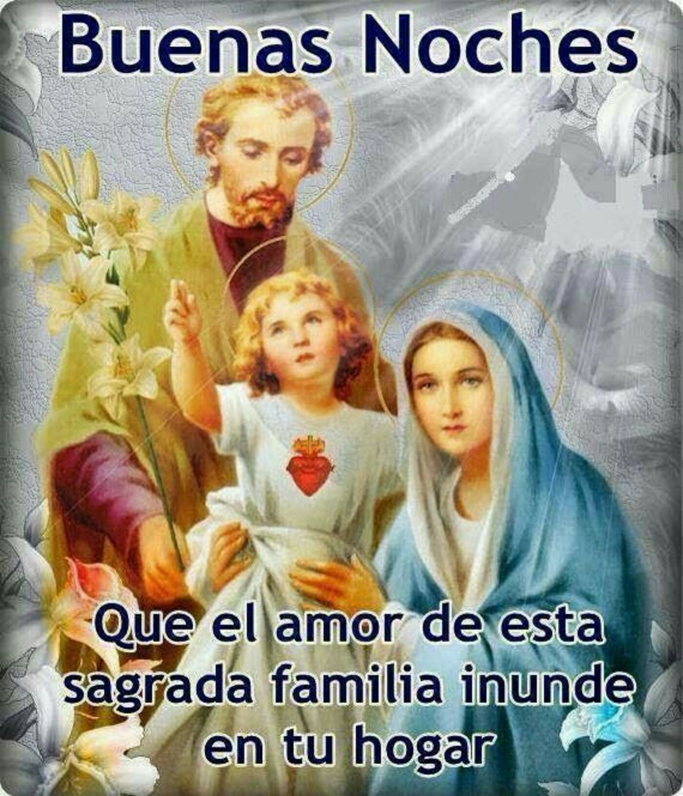 Buenas noches que el amor de esta sagrada familia inunde en tu hogar