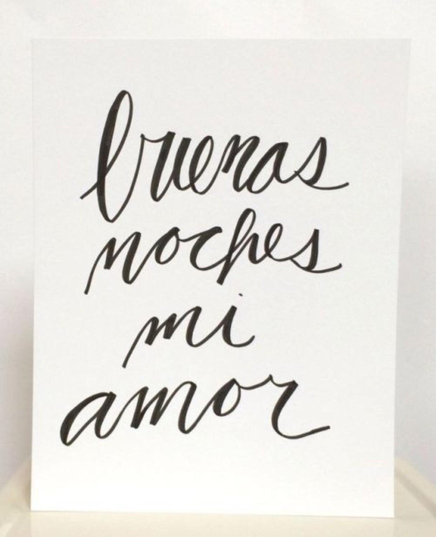 Buenos noches mi amor