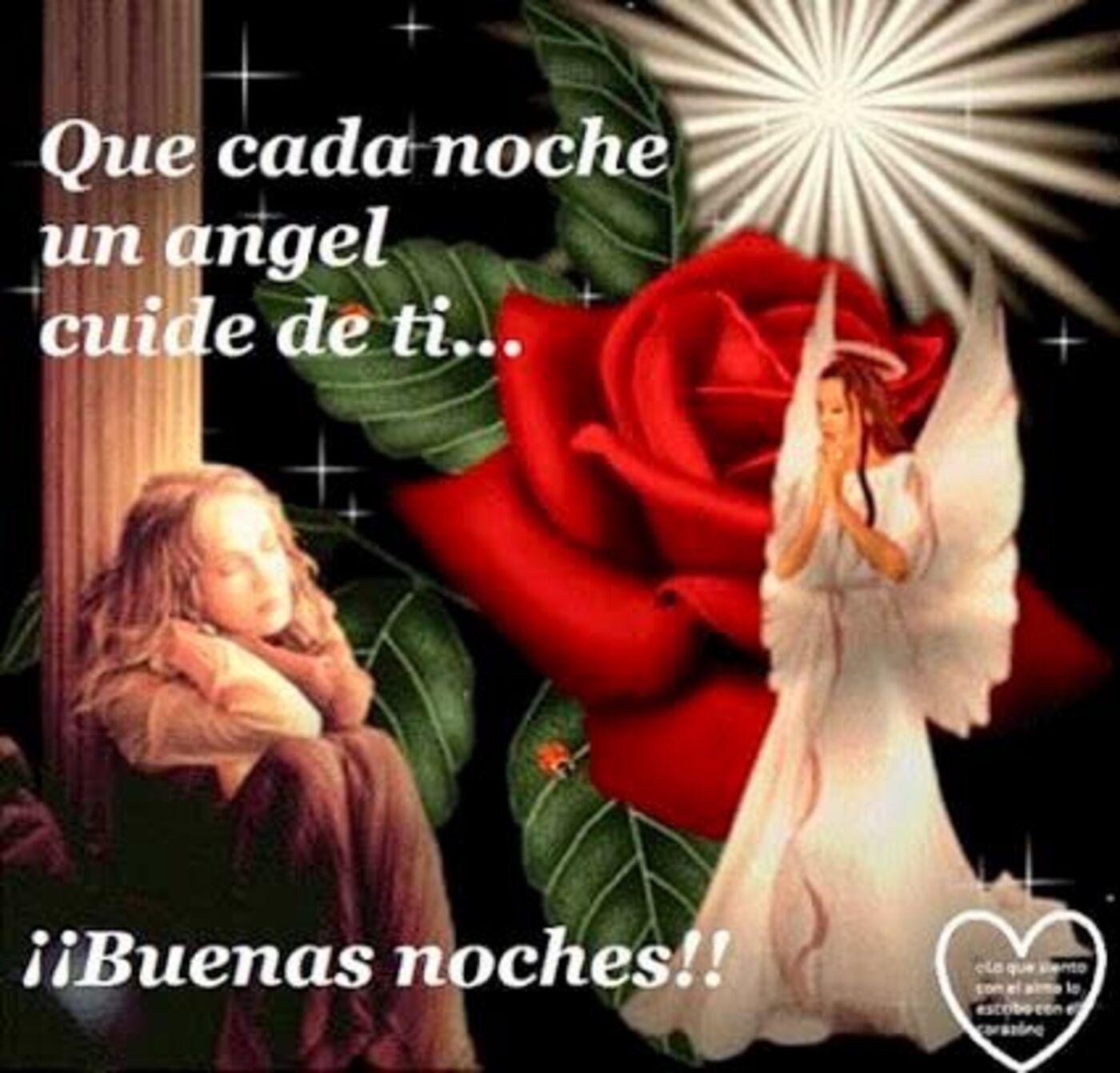 Que cada noche un ángel cuide de ti...Buenas noches