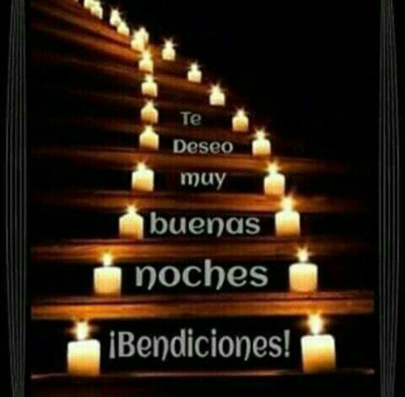 Te deseo muy buenas noches! Bendiciones!