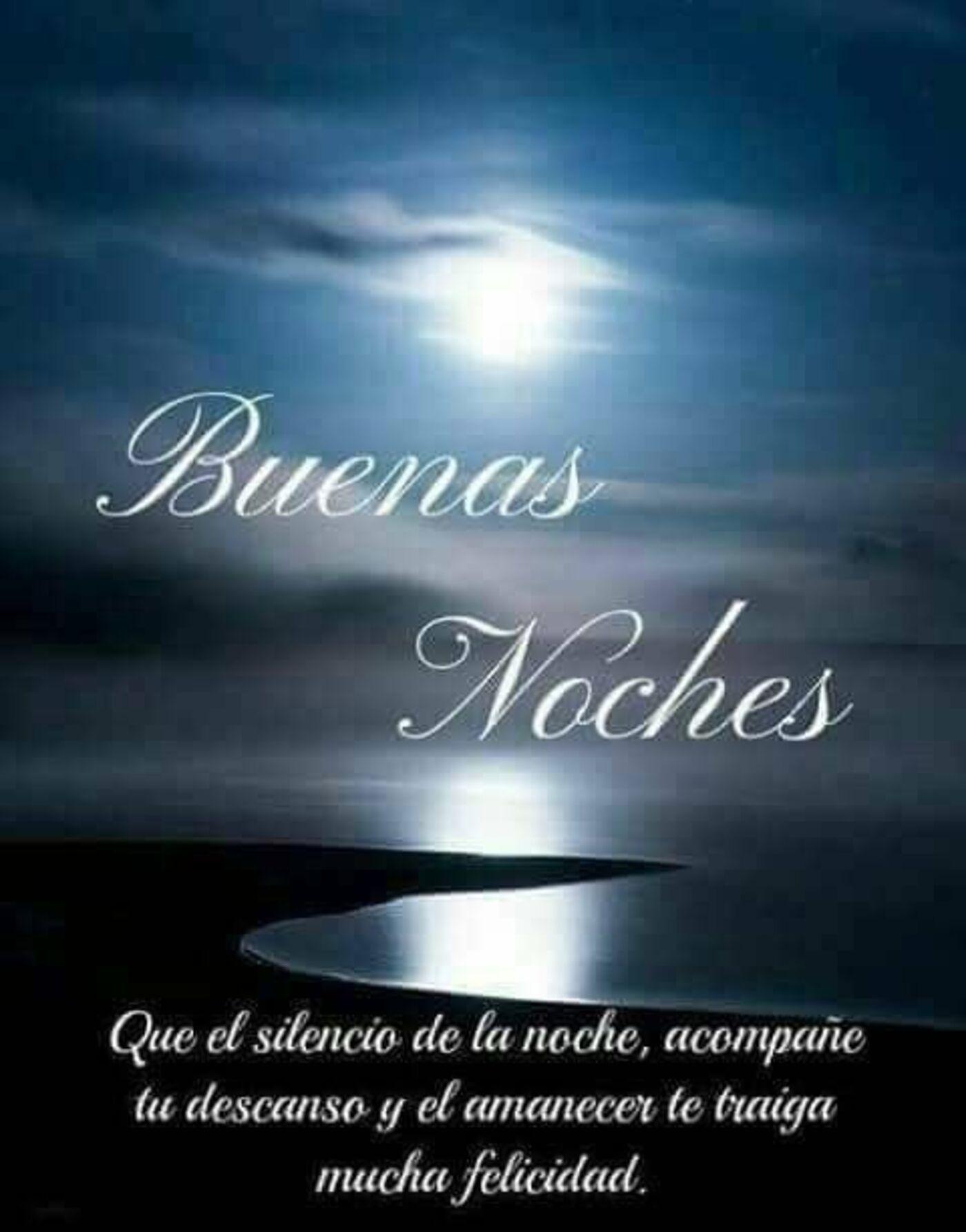 Buenas noches que el silencio de la noche, acompañe tu descanso y el amanecer te traiga mucha felicidad