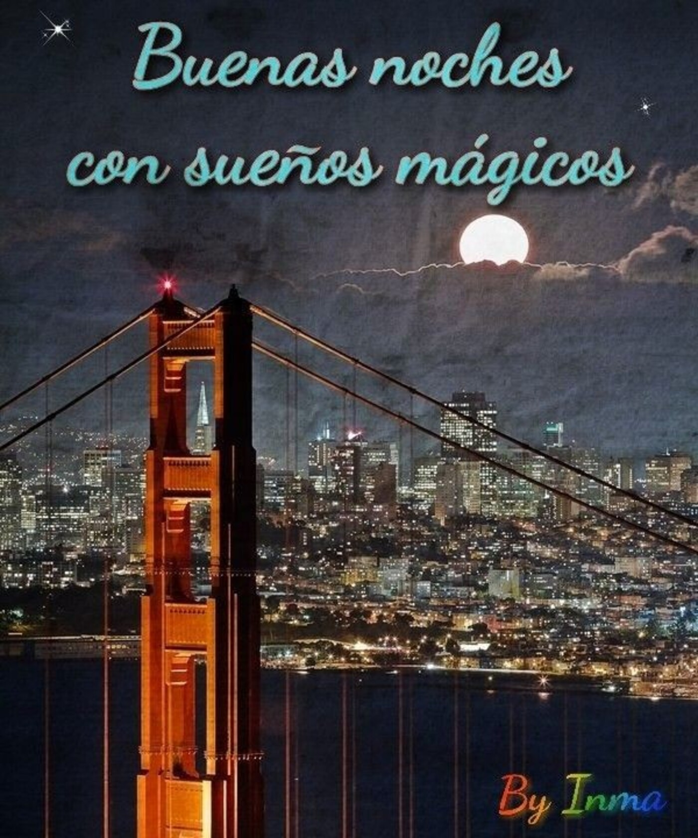 Buenas noches con sueños magicos