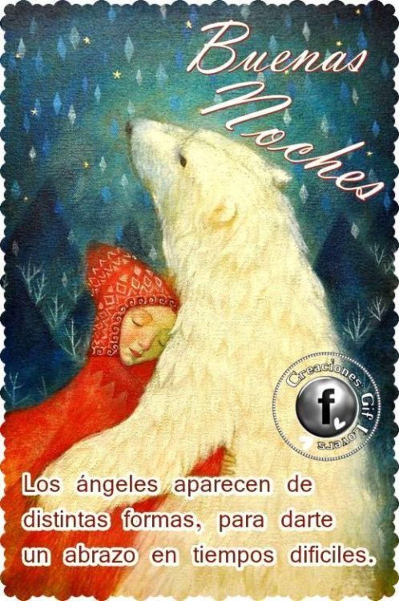 Buenas Noches los ángeles aparecen de distintas formas, para darte un abrazo en tiempos dificiles