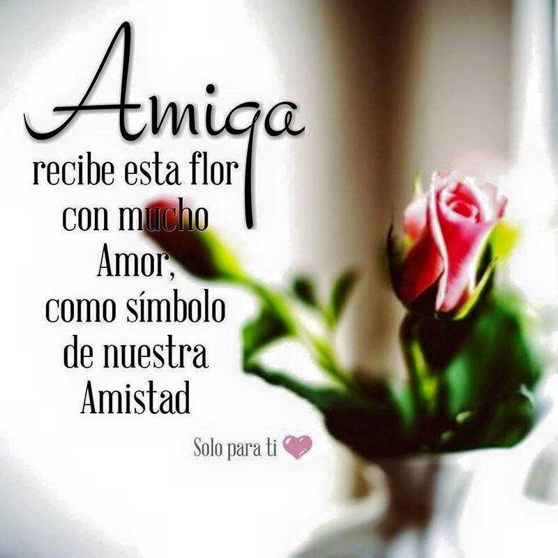 """""""Amiga, recibe esta flor con mucho Amor....."""""""