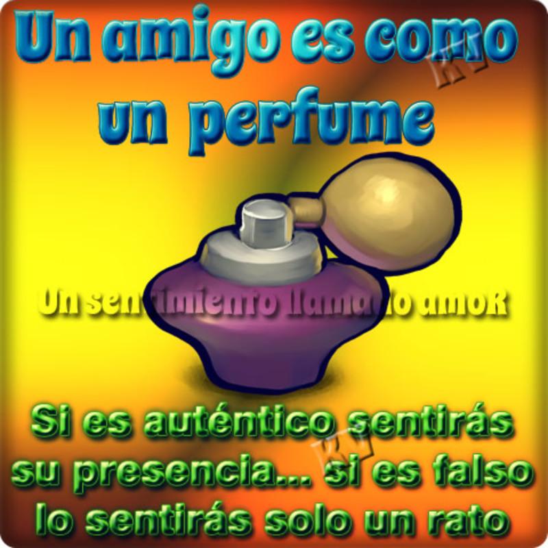 Un amigo es como un perfume. Si es auténtico sentirás su presencia, si es falso lo sentiras solo un rato