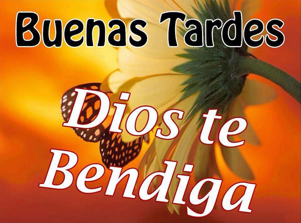 Buenas Tardes Dios te bendiga
