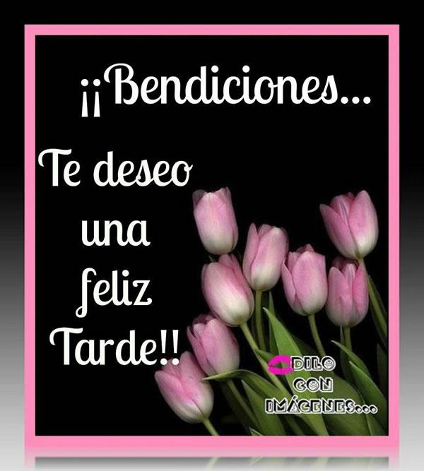 Bendiciones! Te deseo una Feliz Tarde!!