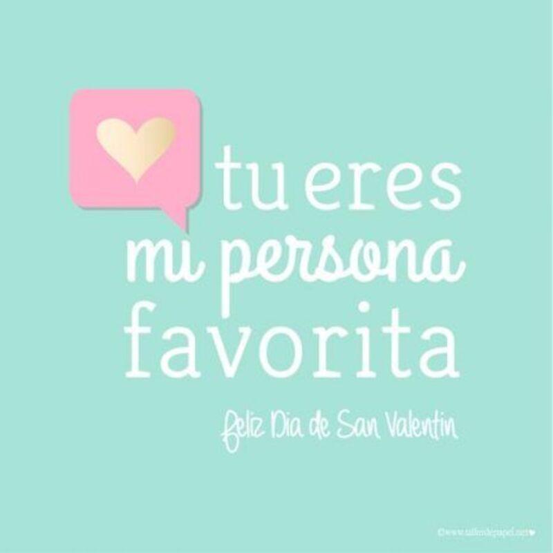 Tu eres mi persona favorita