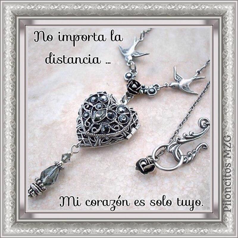 No importa la distancia, mi corazón es solo tuyo.